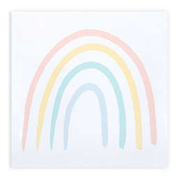 Trend Lab® Rainbow 11.5-Inch x 11.5-Inch Canvas Wall Art in Coral/Yellow