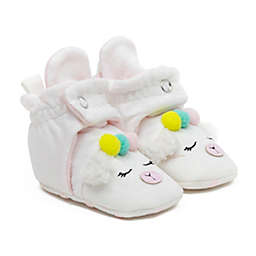 Ro+Me by Robeez® Size 6-12M Llama Slipper in Ivory