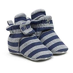 Ro+Me by Robeez® Size 6-12M Stripes Slipper in Grey/Blue