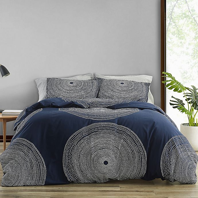 Alternate image 1 for marimekko® Fokus Comforter Set in Navy