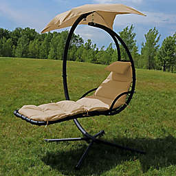 Sunnydaze Floating Chaise Lounger Chair in Beige