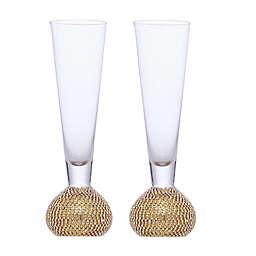 Qualia Bling Flute Glasses (Set of 2)