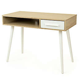 Humble Crew Writing Desk with Shelf and Drawer Storage