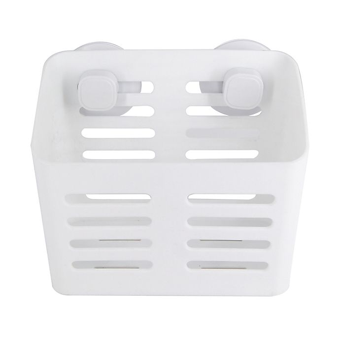 Alternate image 1 for Simply Essential™ Suction Shower Basket in White