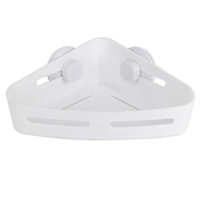 Alternate image 1 for Simply Essential™ Suction Corner Shower Basket in White