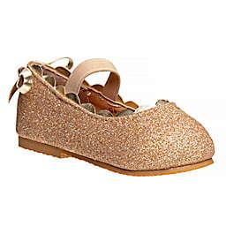 Laura Ashley® Size 6 Ballerina Dress Shoe in Gold