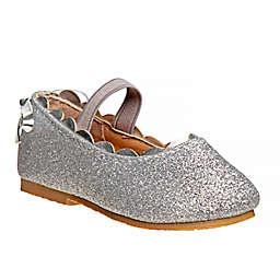 Laura Ashley® Size 4 Ballerina Dress Shoe in Silver