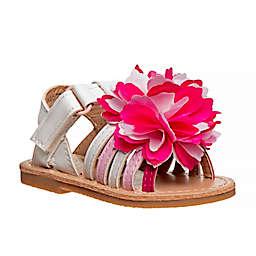 Laura Ashley® Size 5 Flower Sandal in White