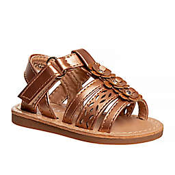 Laura Ashley® Open Toe Strappy Sandal in Brown