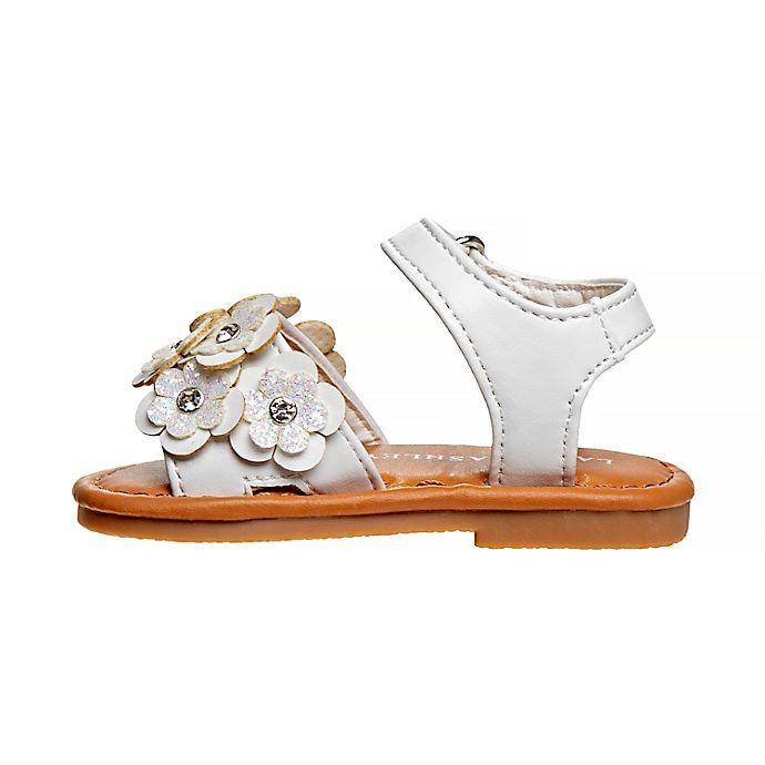 Alternate image 1 for Laura Ashley® Flower Band Sandal in White