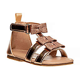 Laura Ashley® Size 9-12M Bow Gladiator Sandal in Gold