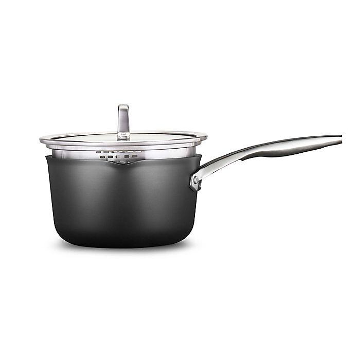 Alternate image 1 for Calphalon® Premier™  Hard-Anodized Nonstick 3.5 qt. Covered Saucepan