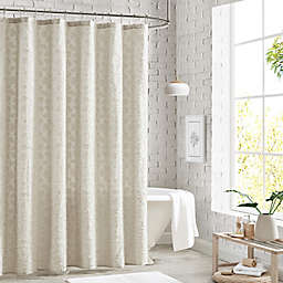 Peri Home 72-Inch x 72-Inch Clipped Floral Shower Curtain in Natural
