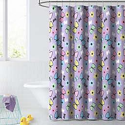 Dream Factory 72-Inch x 72-Inch Sweet Butterfly Shower Curtain in Purple/Multi