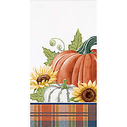 Pumpkin and Plaid 36-Count 3-Ply Paper Guest Towels