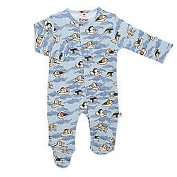 Magnetic Me® by Magnificent Baby Row-ver Magnetic Footie in Blue