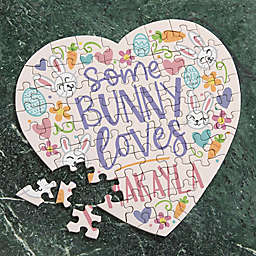 Some Bunny Loves You 75-Piece Heart Puzzle