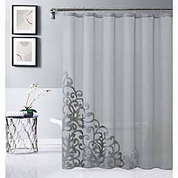 Dainty Home Natalie 70-Inch x 72-Inch Shower Curtain in Silver