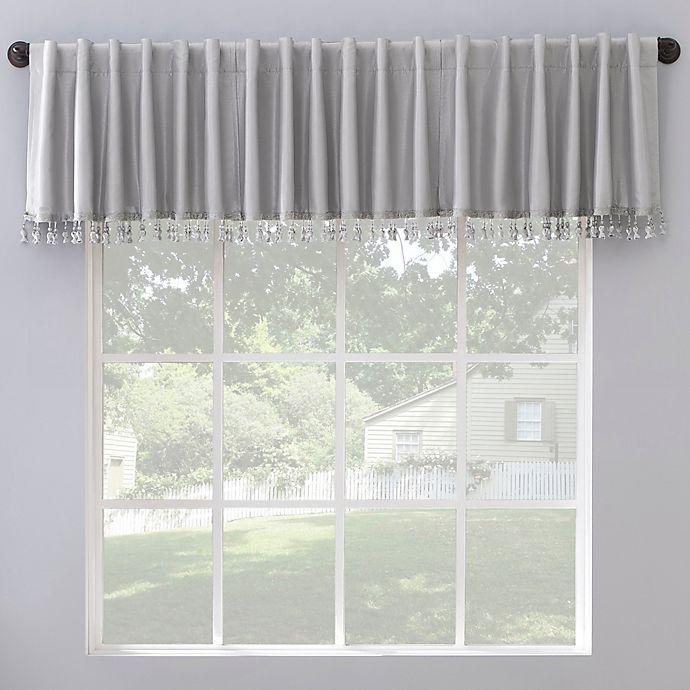 Alternate image 1 for Sun Zero Evelina Faux Silk Tassels Blackout Back Tab Window Curtain Valance