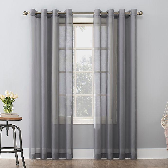 Alternate image 1 for No. 918 Emily Sheer Voile Grommet Window Curtain Panel (Single)