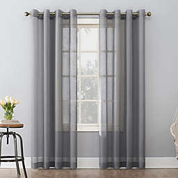 No. 918 Emily Sheer Voile Grommet Window Curtain Panel (Single)