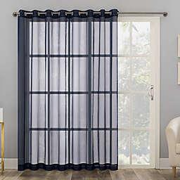 No. 918 Emily Sheer Voile Grommet Sliding Patio Door Window Curtain Panel (Single)