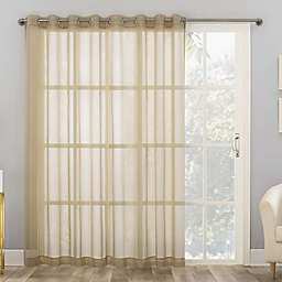 No. 918 Emily Sheer Voile 84-Inch Grommet Sliding Patio Door Window Curtain Panel in Stone