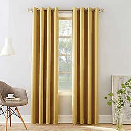 Sun Zero® Bella Room Darkening 54-Inch Grommet Window Curtain Panel in Flax (Single)