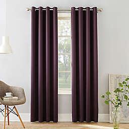Sun Zero Bella Room Darkening 54-Inch Grommet Window Curtain Panel in Plum