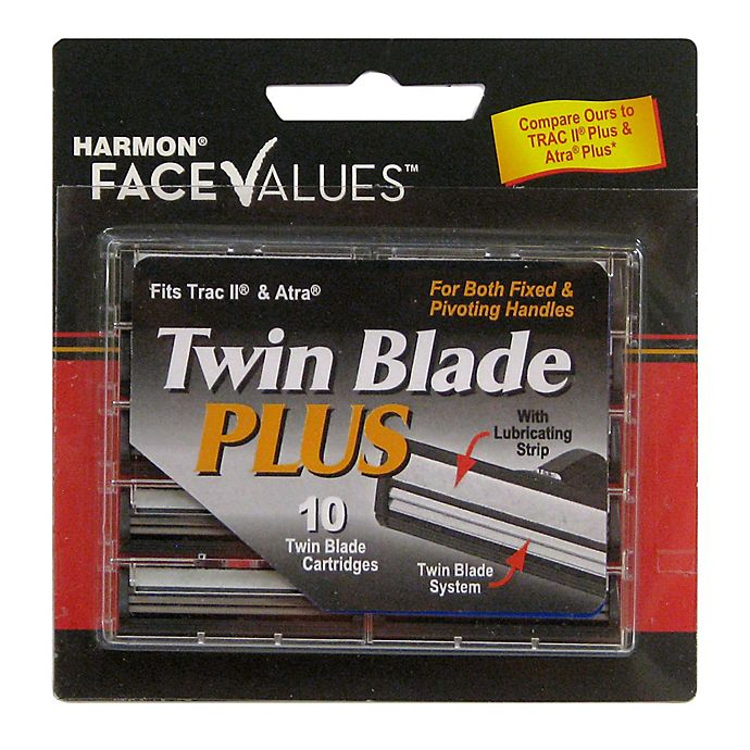 Alternate image 1 for Harmon® Face Values™ 10-Count Men's Twin Blade Cartridges