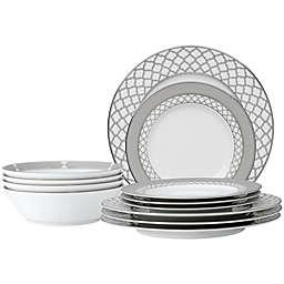 Noritake® Eternal Palace 12-Piece Dinnerware Set in White