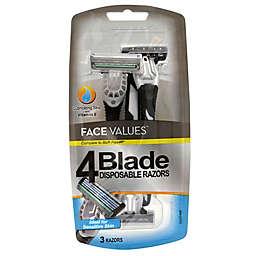 Harmon® Face Values® 3-Count 4-Blade Disposable Razor for Men