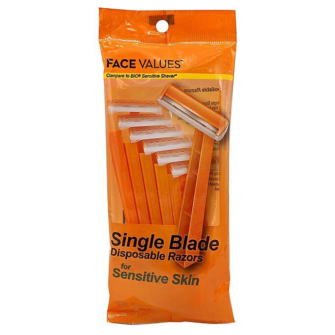 Alternate image 1 for Harmon® Face Values™ 12-Pack Men's Sensitive Disposable Razors