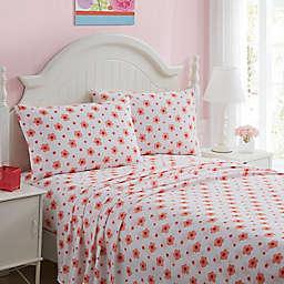 Kute Kids Floral Twin Sheet Set in Pink