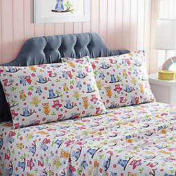 Kute Kids Owls Standard/Queen Pillowcases in Blue (Set of 2)
