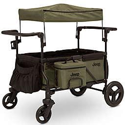 Jeep Wrangler Deluxe Stroller Wagon by Delta Children in Black