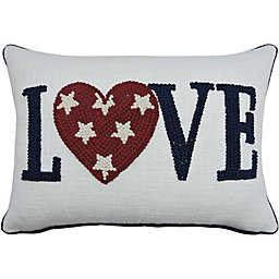 Americana Love Oblong Throw Pillow