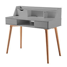 Stylish Wood Desk in Light Grey