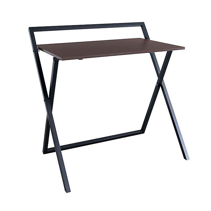 Alternate image 1 for Folding Home Office Desk in Black