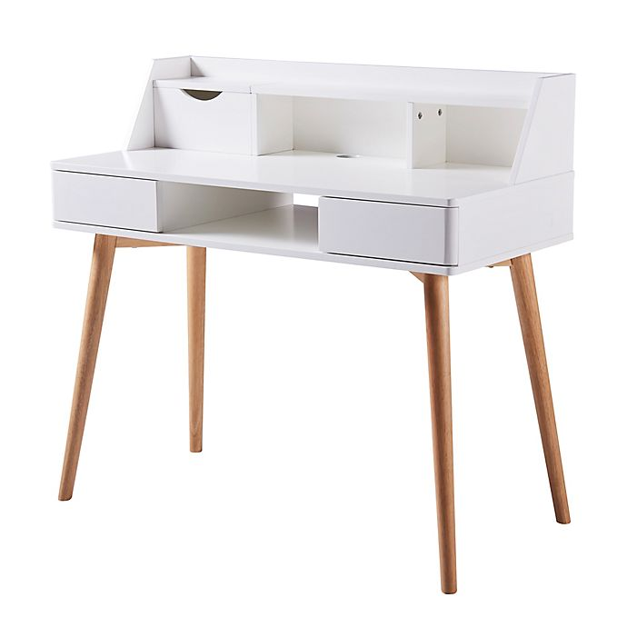 Alternate image 1 for Stylish Wood Desk