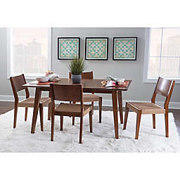 Powell Cherie 5-Piece Dining Set in Brown