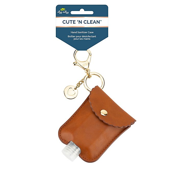 Alternate image 1 for Itzy Ritzy® Hand Sanitizer Diaper Bag Charm in Cognac