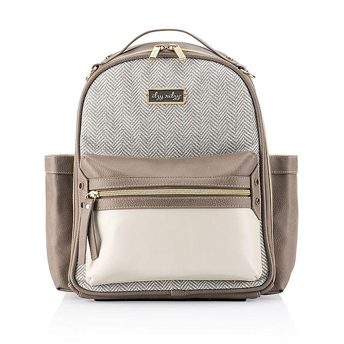 Alternate image 1 for Itzy Ritzy® Mini Backpack Diaper Bag in Vanilla Latte