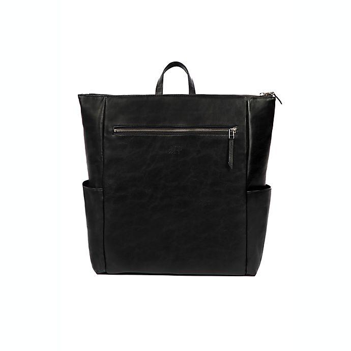 Alternate image 1 for Freshly Picked Minimal Croc Backpack Diaper Bag in Onyx
