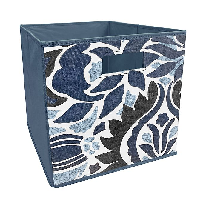 Alternate image 1 for ORG™ 13-Inch Tuscan Collapsible Storage Bin in Blue