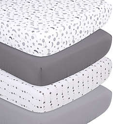 The Peanutshell™ 4-Pack Celestial Microfiber Fitted Crib Sheets