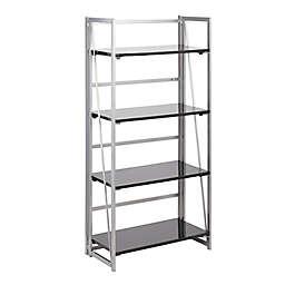LumiSource® Folia Bookcase in Silver/Black