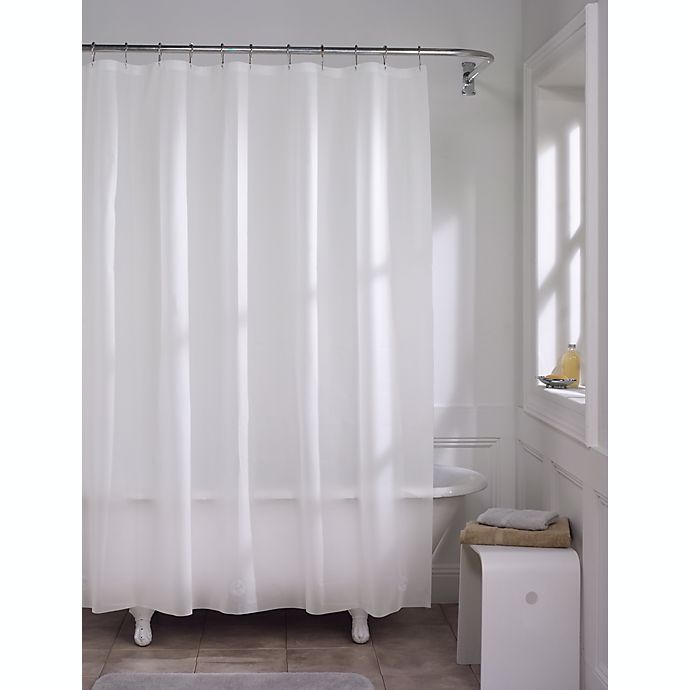 Alternate image 1 for Simply Essential™ 70-Inch x 72-Inch Medium Weight PEVA Shower Curtain Liner in Frost