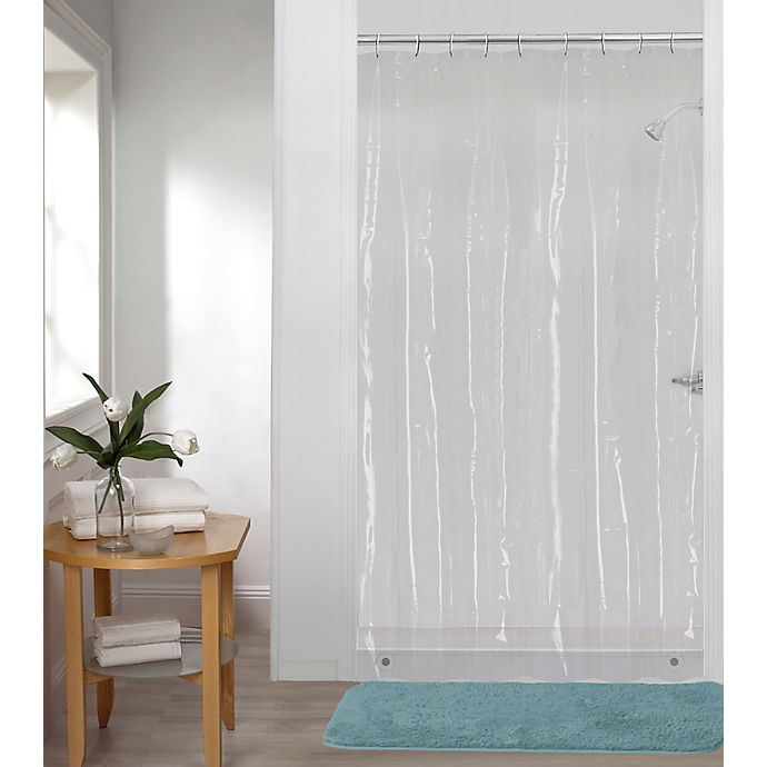 Alternate image 1 for Simply Essential™ 54-Inch x 78-Inch Medium Weight Clear PEVA Shower Curtain Liner