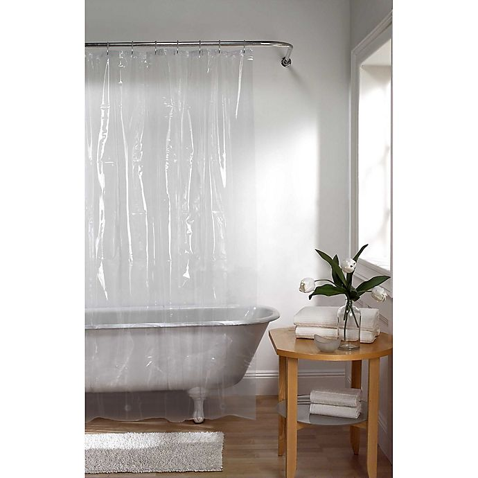 Alternate image 1 for Simply Essential™ 70-Inch x 84-Inch Heavyweight PEVA Shower Curtain Liner in Clean